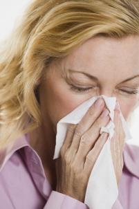 woman with an allergy