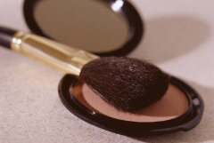 brush and powder makeup