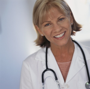 Woman Doctor checking Glycemic Index
