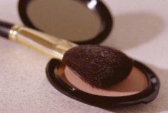 brush and powder makeup